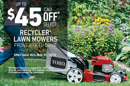 $45 off Select Recycler FWD Mowers
