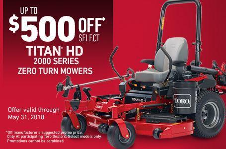 $500 off 2017 TITAN HD 2000 Series