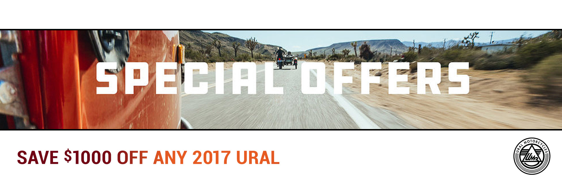 Save $1000 Off Any 2017 Ural