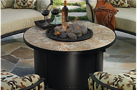 Santorini Fire Pit Table - 2016 Santorini Firepit With Burner Assembly And 42