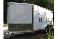 MES 7x14 Enclosed Snowmobile Trailer