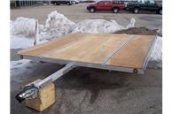 MFS 101x10D Flat Snowmobile Trailer