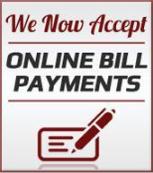 We now accept online bill payments.