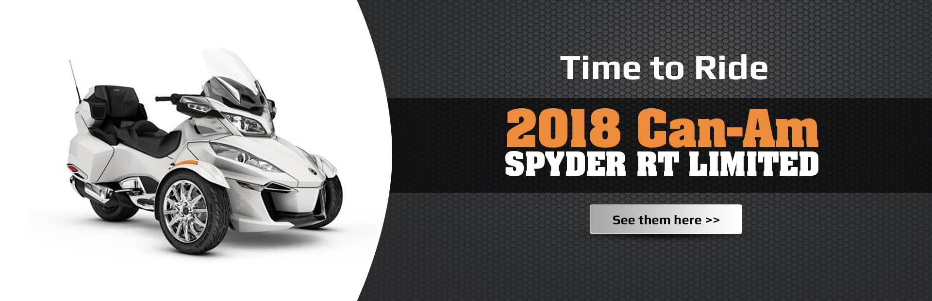 2018 Can-Am Spyder RT Limited: Click here to view the models.