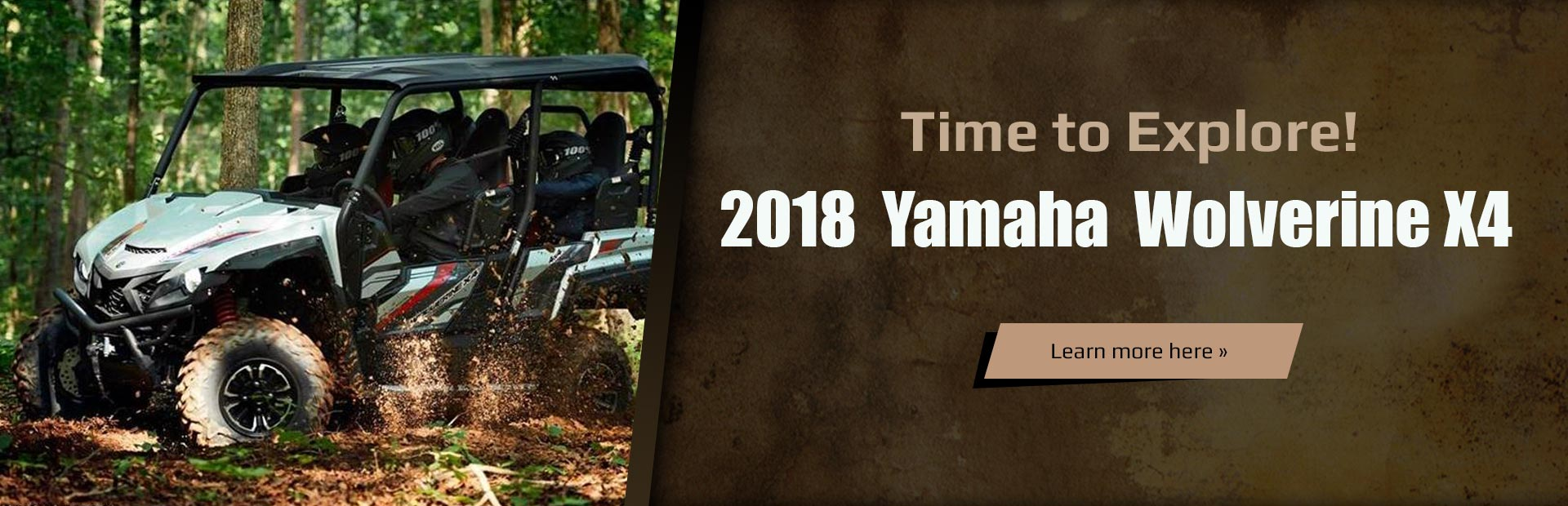 2018 Yamaha Wolverine X4: Click here to view the models.