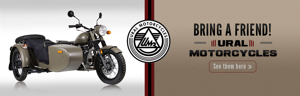 Ural Motorcycles: Click here to view the models.