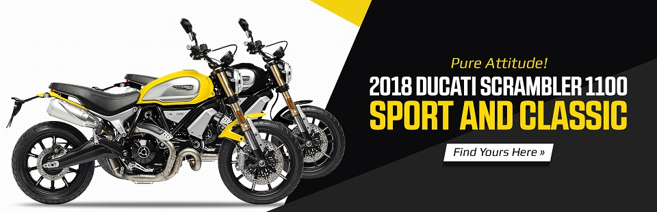 2018 Ducati Scrambler 1100 Sport and Classic Models: Find yours at Reno's Powersports KC.