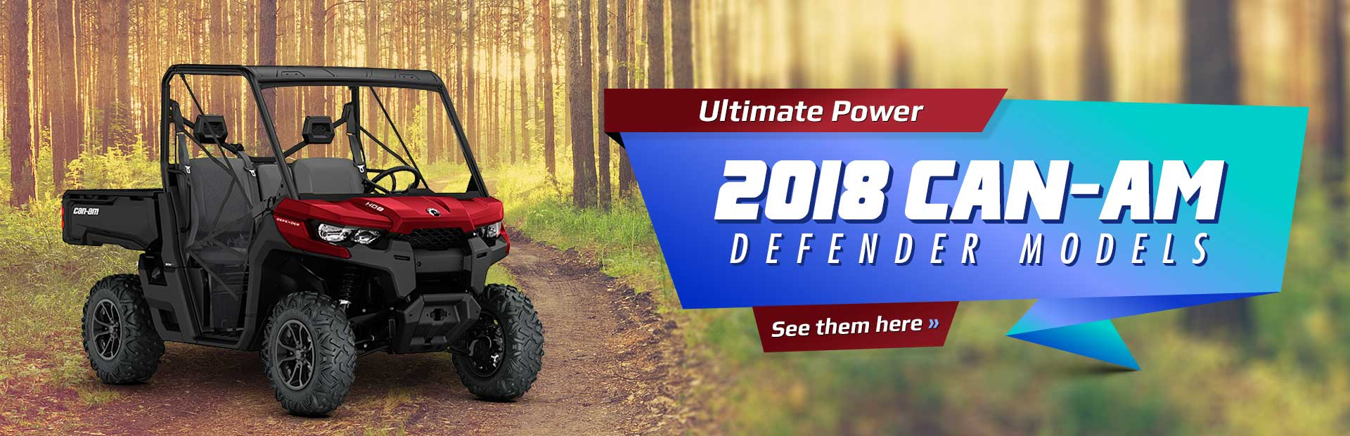 2018 Can-Am Defender Models: Click here to view the lineup.