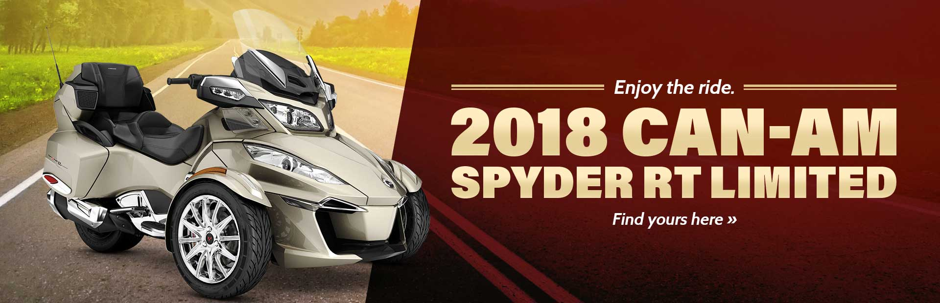 2018 Can-Am Spyder RT Limited: Click here to view the model.