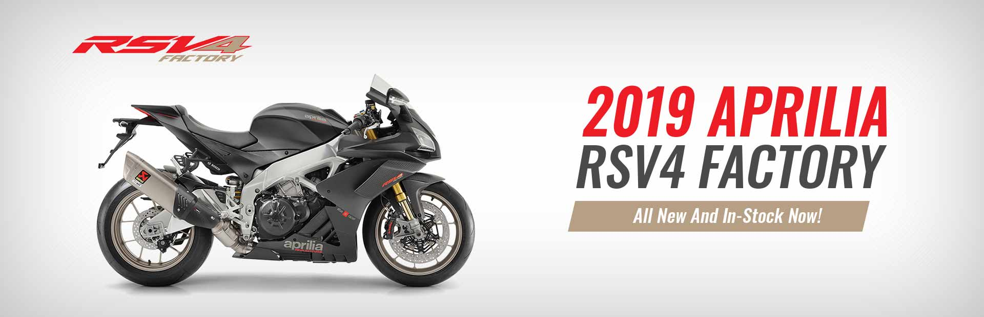 2019 Aprilia RSV4 Factory. All new and in-stock now! Click here now!