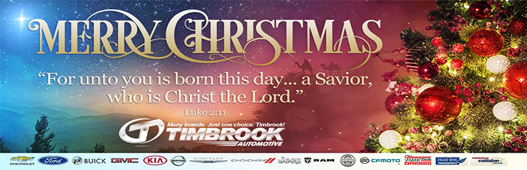 Merry Christmas from the Timbrook Family of Dealerships!