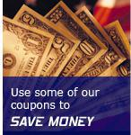 Use some of our coupons to Save Money