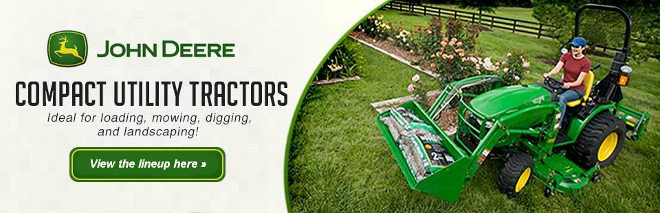Click here to view the lineup of 2012 John Deere compact utility tractors.