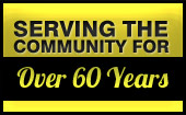 We've been serving the Community for over 60 Years.