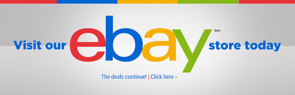 Click here to visit our eBay store today!