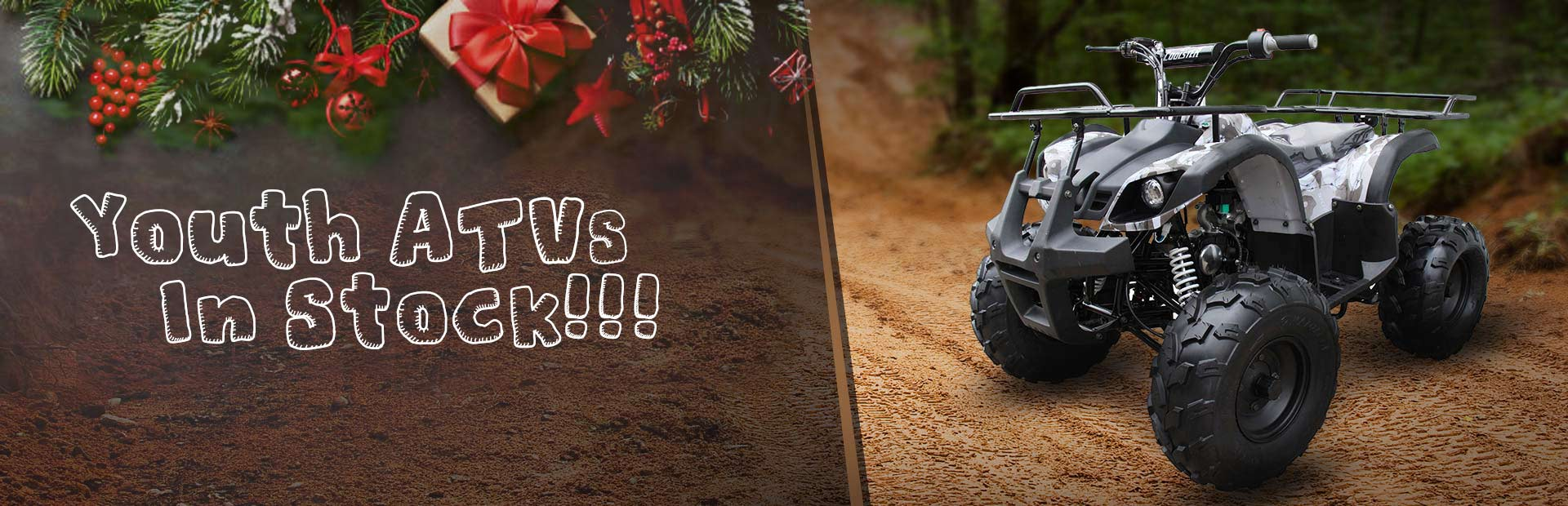 Click here to view our in-stock Youth ATVs.