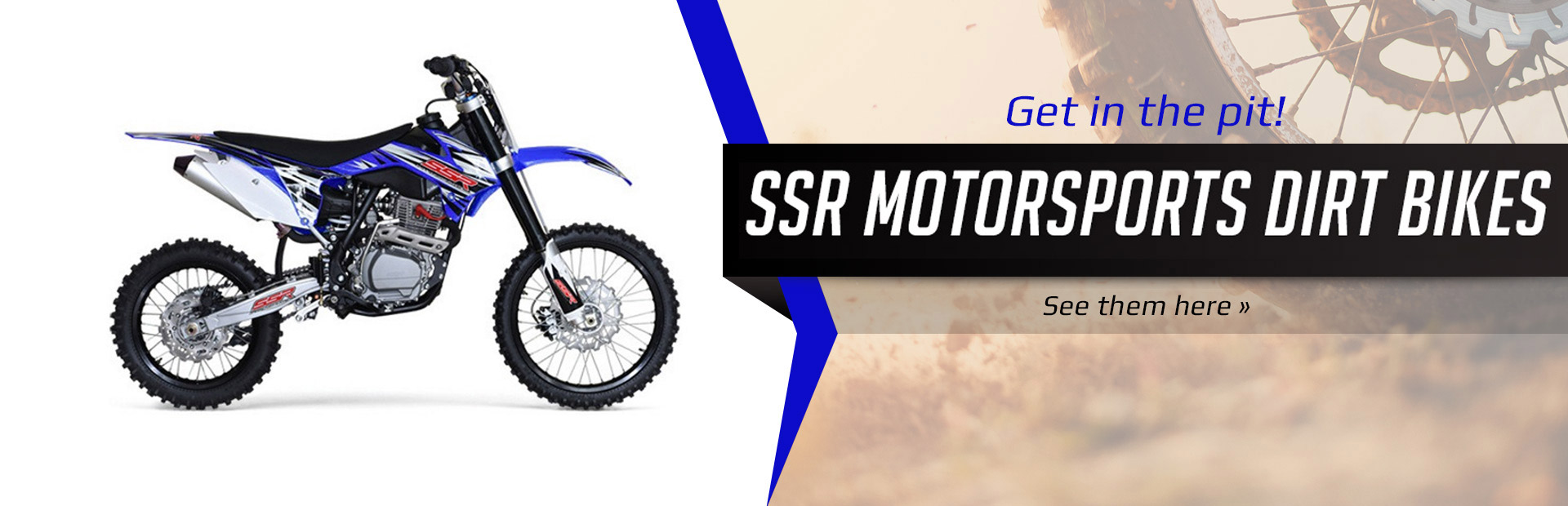 2018 SSR Motorsports Dirt Bikes: Click here to view the models.