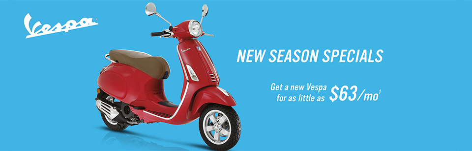 Vespa Scooters: Click here to see the lineup!