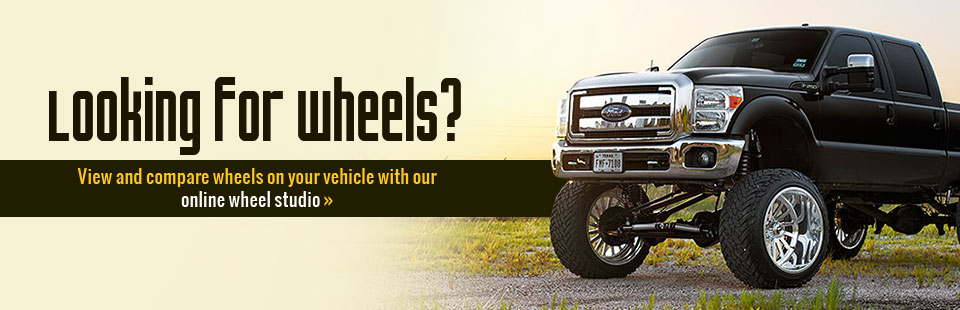 View and compare wheels on your vehicle with our online wheel studio!