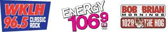 WKLH 96.5, Energy 106.9, and 102.9 The Hog.
