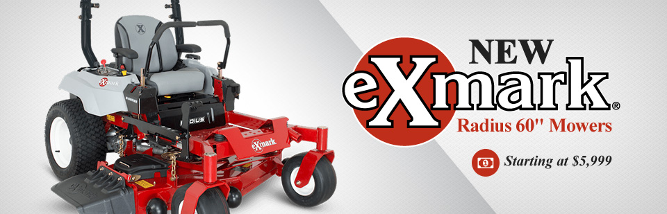 New Exmark Radius 60'' Mowers Starting at $5,999: Click here to view the models.