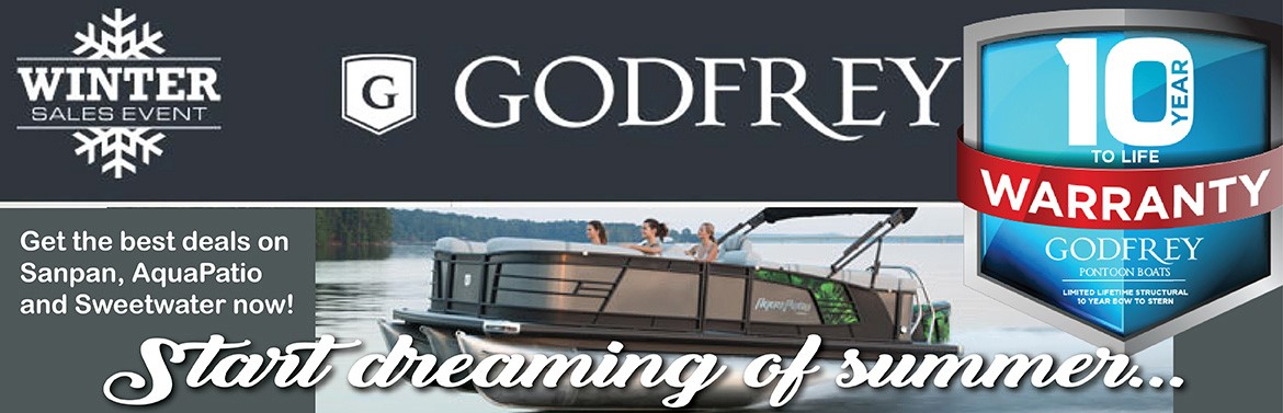 Godfrey Winter Sales Event. 10 Year to Life Warranty