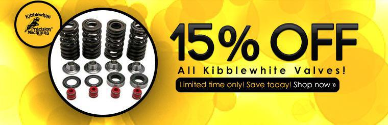 Receive 15% off all Kibblewhite valves. Click here to shop now! This is a limited time offer.
