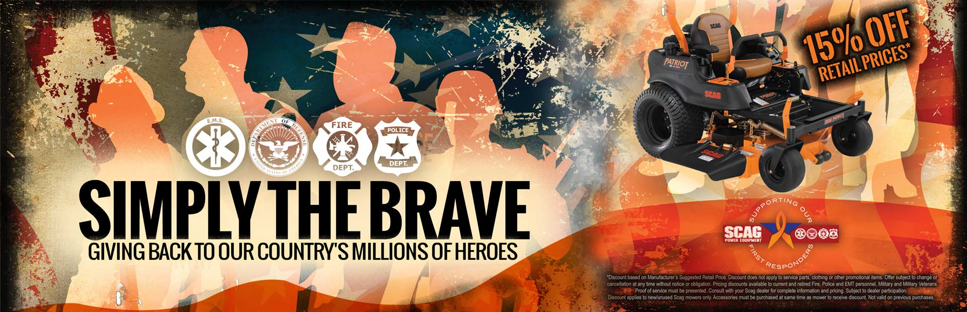 Simply the brave: Giving back to our country's millions of heroes.
