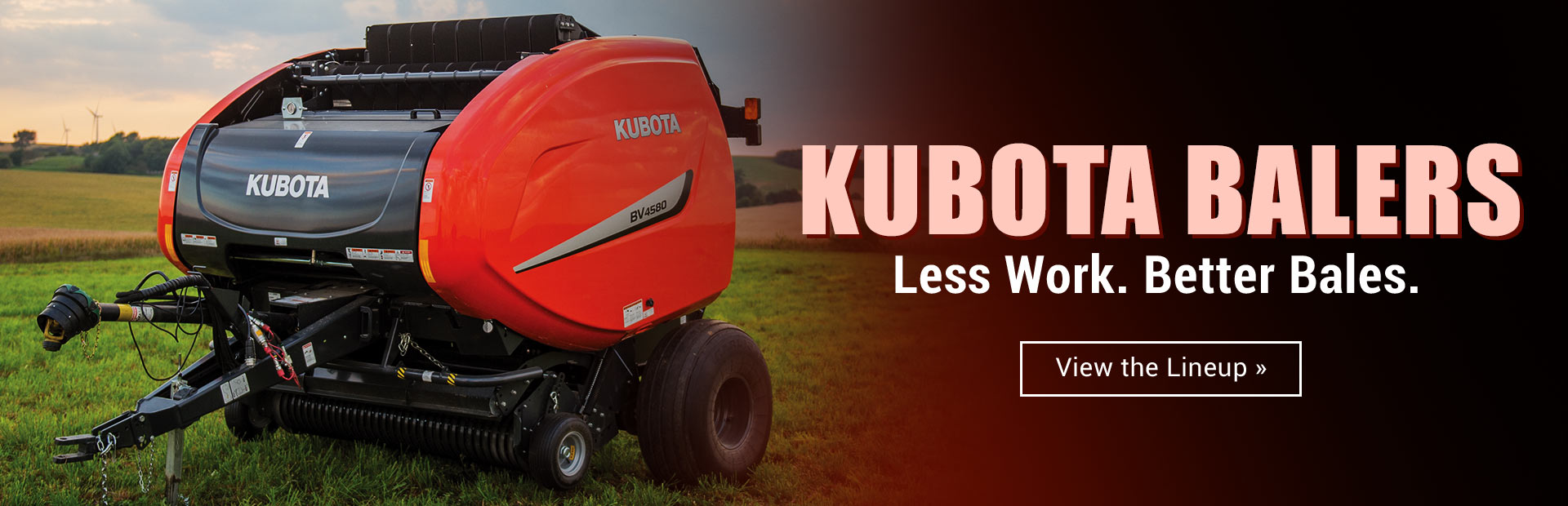 Kubota Balers: Click here to view the lineup.
