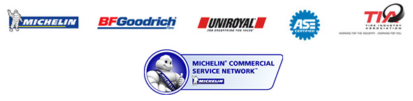 We proudly carry Michelin®, BFGoodrich®, and Uniroyal® products. We are TIA certified. Michelin® Commercial Service Network™.