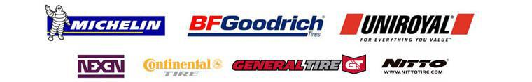 We proudly offer products from: Michelin®, BFGoodrich®, Uniroyal®, Nexen, Continental, General, and Nitto.
