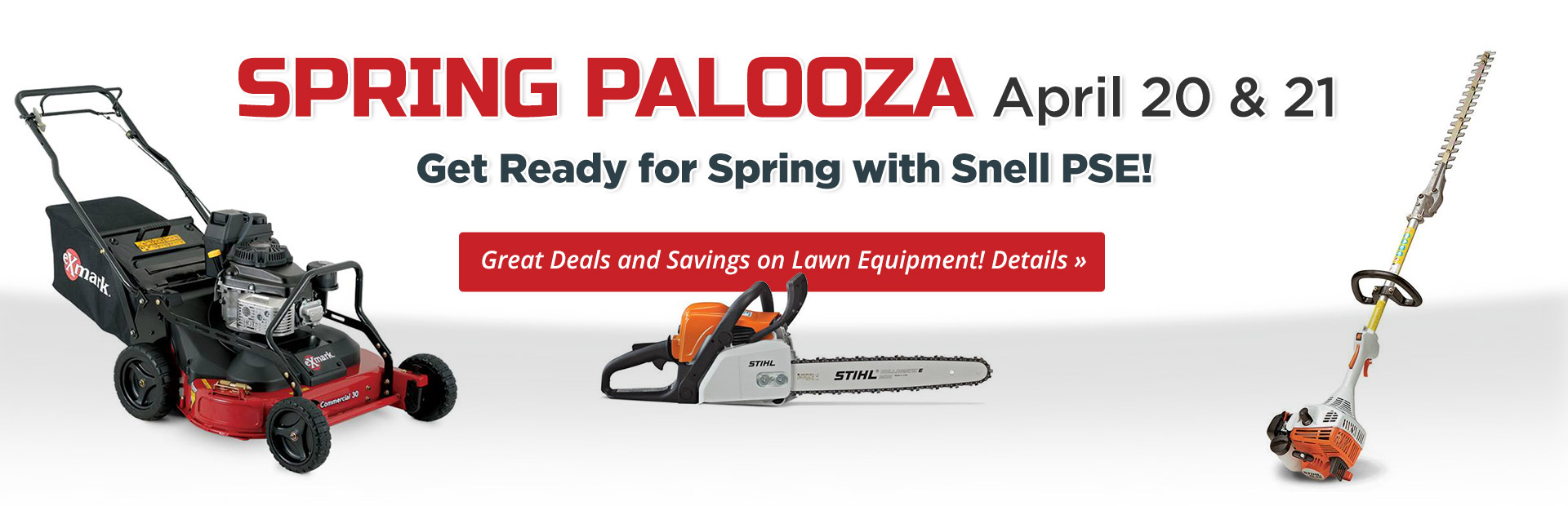 Join us April 20 and 21 for Spring Palooza! Click here for details.