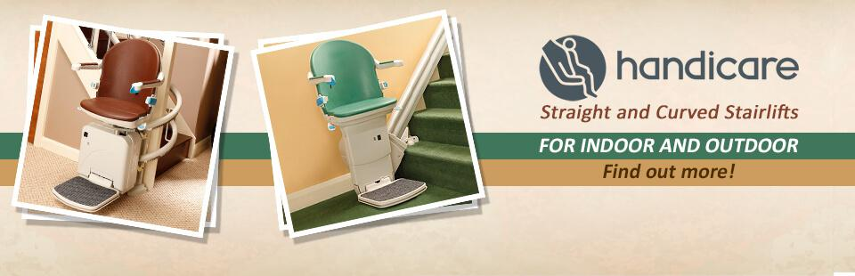 Handicare Straight and Curved Stairlifts: Click here to find out more!
