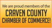 We are proud members of the Craven County Chamber of Commerce!