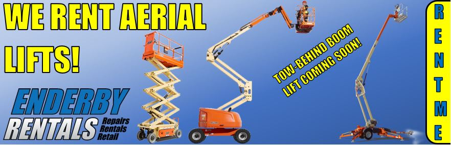 We Rent Aerial Lifts!