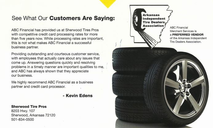 Merchants Tire Near Me >> Abc Financial Merchant Services Arkansas Independent Tire Dealers