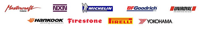 We carry products from Mastercraft, Nexen, Michelin®, BFGoodrich®, Uniroyal®, Hankook, Firestone, Pirelli, and Yokohama.