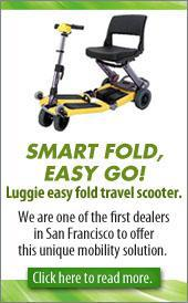 Check out the Luggie easy fold travel scooter!