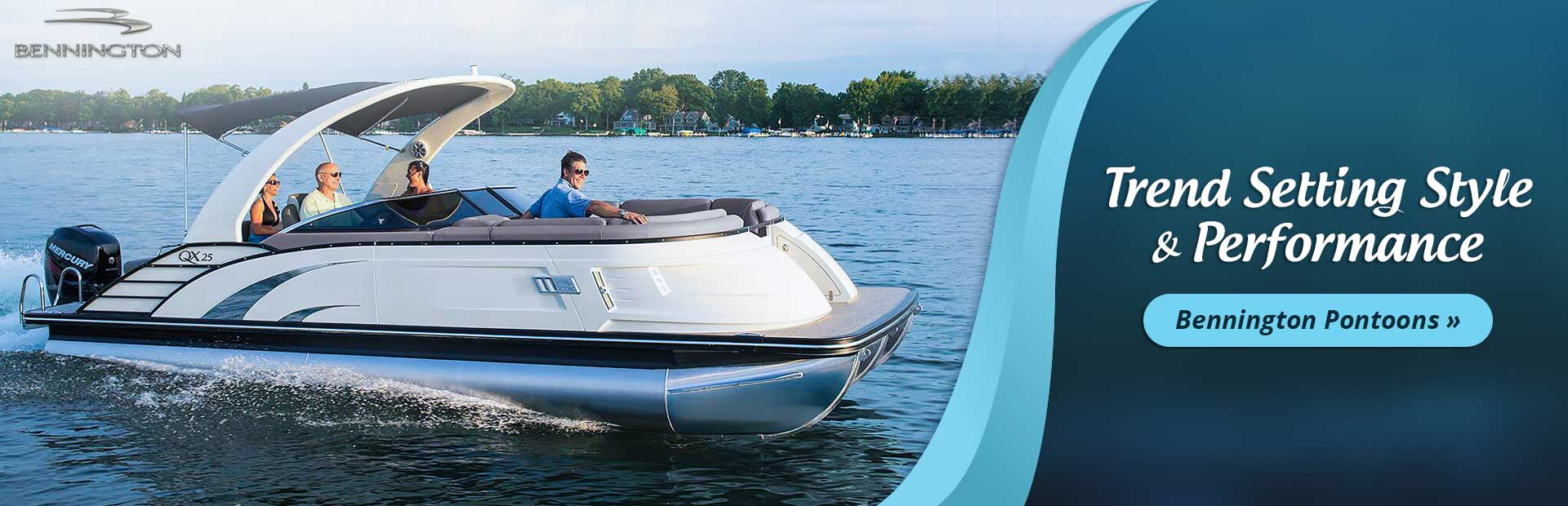 Click here to view Bennington pontoons.
