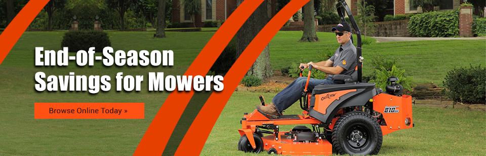 End-of-Season Savings for Mowers: Click here to browse online.