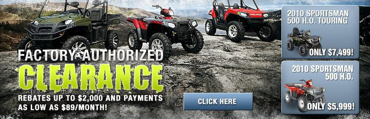 Factory Authorized Clearance.  Rebates up to $2,000 and payments as low as $89/month!