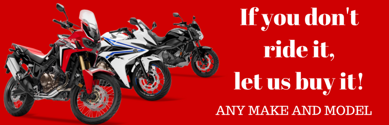 We want your motorcycle!