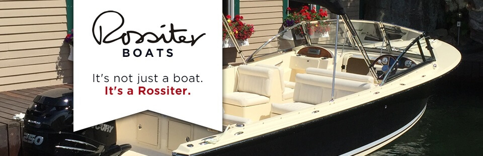 Rossiter Boats: It's not just a boat. It's a Rossiter.