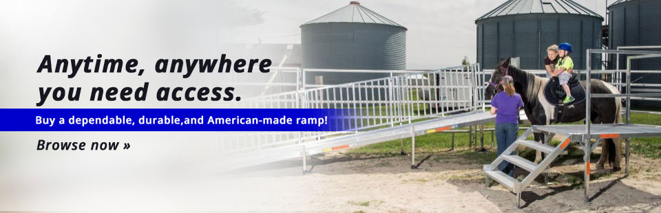 EZ-ACCESS® Ramps are dependable, durable, and American-made ramps that are there anytime, anywhere you need access! Click here to shop our selection