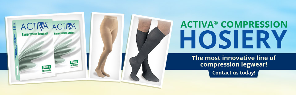 Activa® Compression Hosiery: The most innovative line of compression legwear! Contact us today!