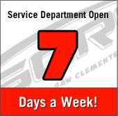 Service Department Open 7 Days a Week!