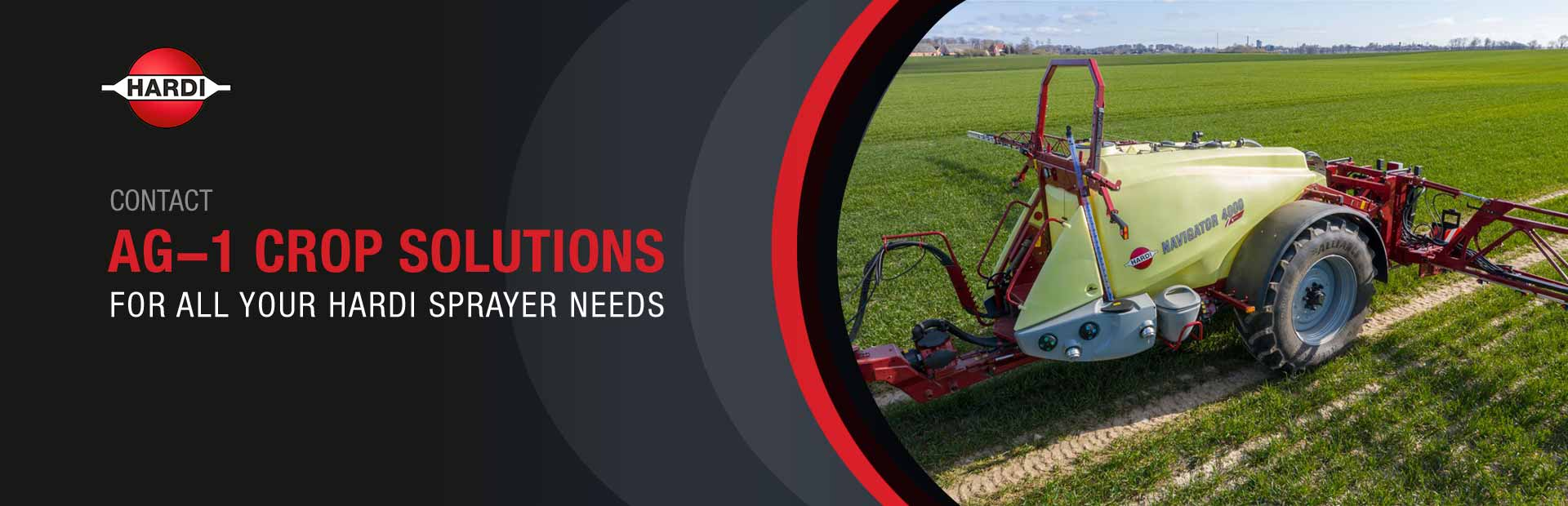 Contact Ag-1 Crop Solutions for all your Hardi sprayer needs!