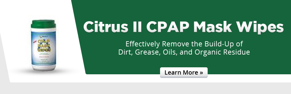 Citrus II CPAP mask wipes effectively remove the build-up of dirt, grease, oils, and organic residue.