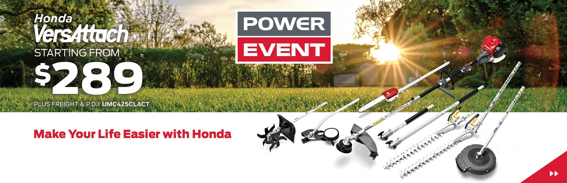 Honda Power Event is on Now! VersAttach starting from $289!
