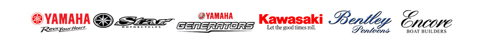 We proudly carry products from Yamaha, Star, Yamaha Generators, Kawasaki, Bentley Pontoons and Encore.